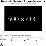 テスト用画像作成サイト「Dynamic Dummy Image Generator」
